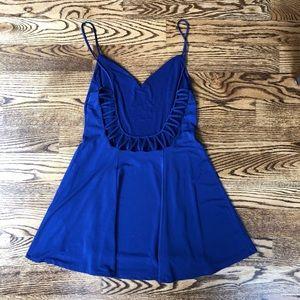 Purple low back dress